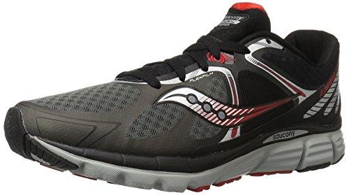 Saucony Men's Kinvara 6 Running Shoe, Black/Grey/Red,11.5 M US