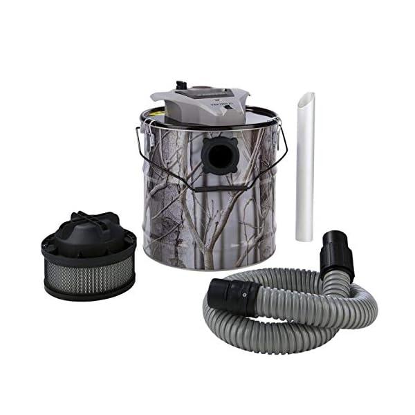 Aspirador de Cenizas Aspirador de Chimenea 1200 Vatios 18 Litros 2-stufiges Sistema de Filtros