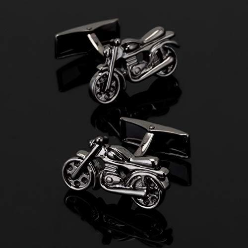 SMXGF Zwarte motorfiets Manchetknopen mode heren shirt manchetknopen senior designer exclusieve merk knop ontwerp