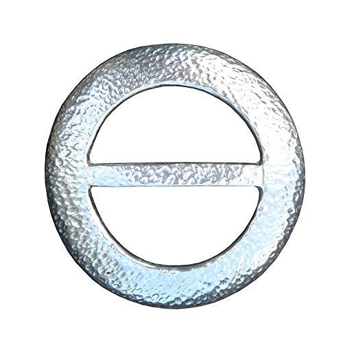 Schal-Ring, Gehämmerte Kreis, Hand Gegossen, von William Sturt, aus Deutsch Zinn.