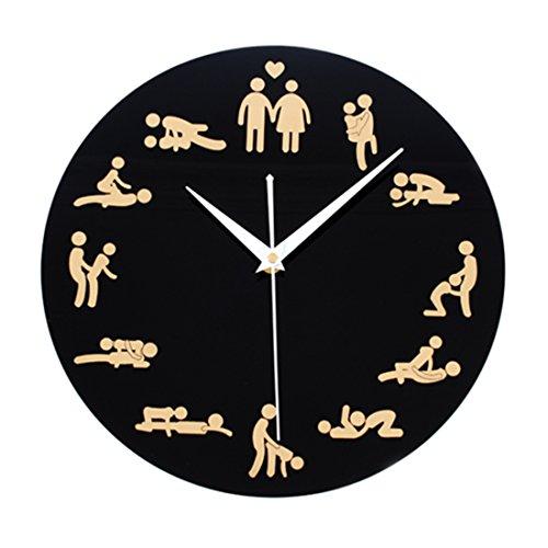 Likeluk Vintage Uhr Wanduhr, 12 Zoll(30cm) Sex Quartz Lautlos Wanduhr ohne Ticken
