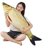 XICHEN Cojín gigante de peces suaves 3D, almohada de peluche para carpa, almohada de peluche para decoración del hogar, regalo para niños, juguete...