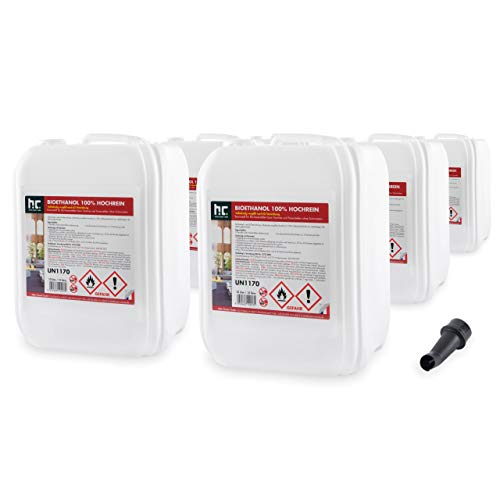 Höfer Chemie 60 L Bioethanol 99,9% Premium (6 x 10 L) für Ethanol Kamin, Ethanol Feuerstelle, Tischfeuer und Bioethanol Kamin