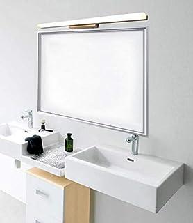 Moderno Baño Minimalista Espejo Mueble Baño Maquillaje Vestidor Lavabo LED Espejo Faros (Color : Luz Calida, Tamaño : 28cm)