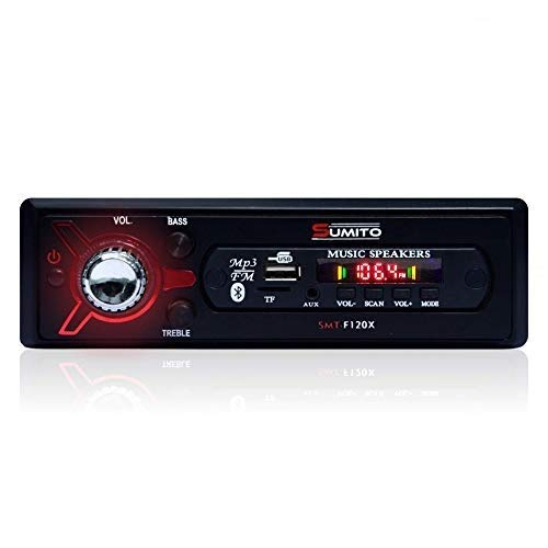 Sumito SMT-F220X Double IC High Power Single Din Universal Fit Mp3 Car Stereo with Dual USB/Bluetooth/FM Radio/Aux Input & Remote Control
