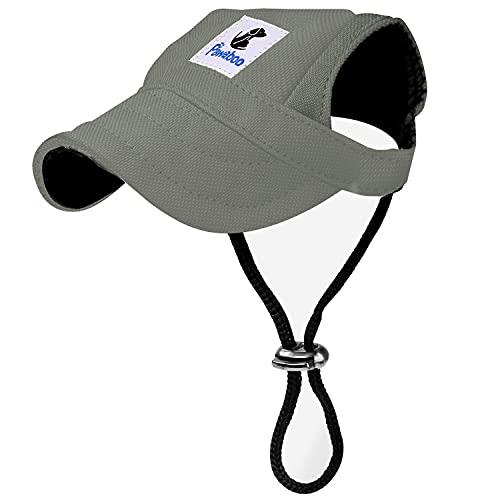 Pawaboo Hunde Baseball Cap Mütze Basecap Baseballmütze Hut Hundecap mit Ohrlöchern für Welpen Haustier, S, Grau