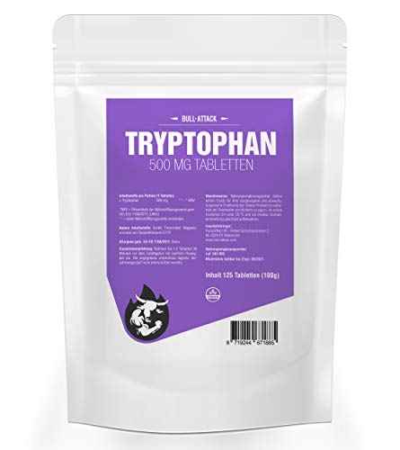 TRYPTOPHAN 500 mg - 125 tabletas veganas | suplemento natural para los desórdenes del sueño | regeneración y bienestar