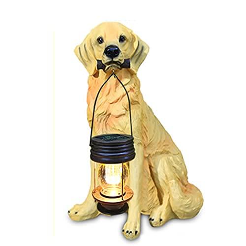 WWZZ Lámpara De Jardín Solar, Lámpara De Estatua del Jardín De La Linterna del Perro, Lámpara De Jardín Solar, Lámpara De Estatua del Jardín De La Linterna del Perro,Large