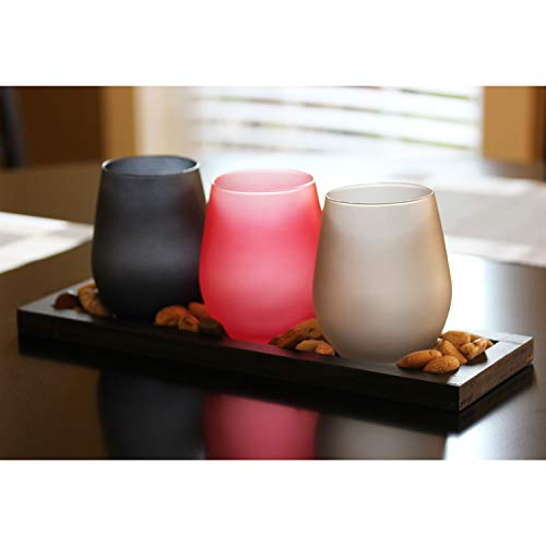 Seraphic 3-Cup Candle Holders with Black Tray Centerpiece