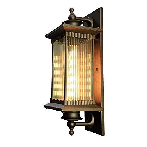 ZCCLCH Lámpara de Pared Retro Europea al Aire Libre Tradición Victoria Impermeable E27 Decoración Lámpara de Pared Balcón Pasillo Pasillo Jardín Patio Bronce Accesorio de iluminación Aplique