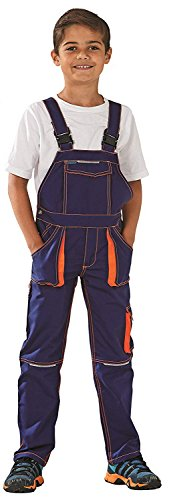 Planam Basalt Junior Latzhose, (86/92, marine-orange)