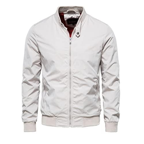 LSDJGDDE Chaqueta de béisbol de color sólido Hombres Soporte casual Collar Chaquetas for hombre Jackets delgado de otoño chaquetas for hombres (Color : C, Size : Asia XL 65-75 kg)