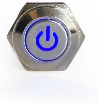 Hotsystem 16mm 12v Selbsthaltender Schalter Metall Led Beleuchtet Drucktaster Druckschalter Druckknopf Ein Ausschalter F R Auto Kfz Gr N Auto