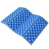 LSX Esterno Portatile Massaggio Pieghevole umidità-Proof Schiuma Pad Portatile Outdoor Campeggio Escursionismo Giardino Spiaggia Picnic Pieghevole Schiuma Cuscino Impermeabile-Blu