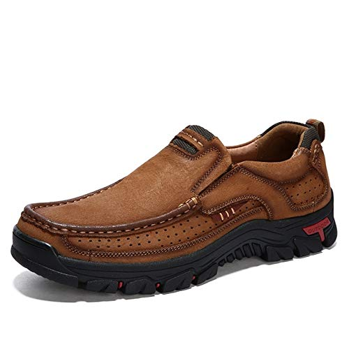 N / A Athletic Outdoor Shoes Comfortable and Breathable Non-Slip Set Feet Outdoor Hiking Sneakers Formal Shoes for Men (Color : Brown, Size : 48)