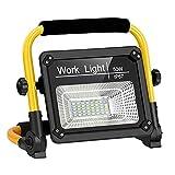 Linkax Luz de Trabajo LED Recargable, Foco Led Recargable 50W Portátil Recargable USB Plegable con Control Remoto, Lámpara LED Recargable Impermeable de Para Taller, Garaje, Patio, Jardín
