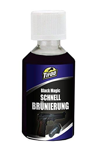 Tifoo Streich-Brünierung Black Magic (50 ml) Kaltbrünierung Brüniermittel – Schnellbrünierung zum einfach selbst brünieren bzw. Stahl schwärzen