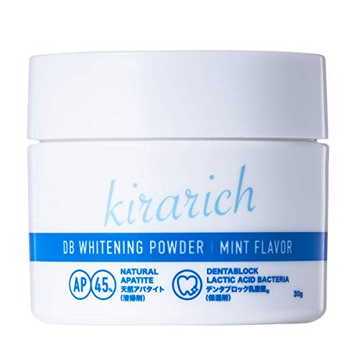 ホワイトニング 歯磨き粉 ホワイトニングパウダー 天然アパタイト45% 特許成分 乳酸菌 Kirarich 30g