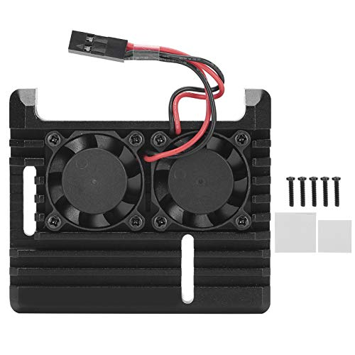 Vbestlife Kit Armor Case, Solo para Placa Raspberry Pi 3A +, con disipador de Calor de Ventilador de refrigeración Dual, aleación de Aluminio, fabricación de mecanizado CNC
