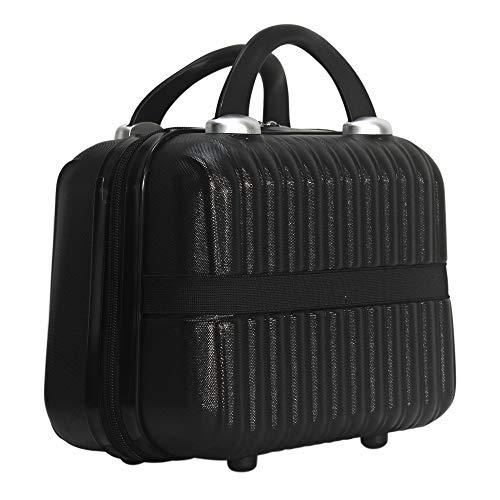 Makeup Travel Case Hard Cosmetic Organizer Bag Small Makeup Bag Box Retro Mini ABS Carrying Suitcase for Women Girls