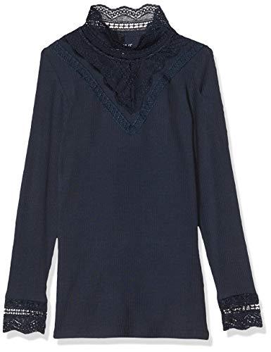 NAME IT Mädchen 13173362 Langarmshirt, Blau (Dark Sapphire Dark Sapphire), 134/140 (Herstellergröße: 134-140)