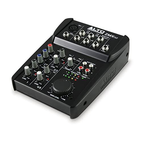 Mezclador de Audio ALTO Professional ZMX52   Mezclador compacto de 5 canales.