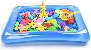 28 قطعة من العاب الاستحمام للاطفال لصيد الاسماك، العاب مغناطيسية تطفو على الماء، لعبة حوض سباحة قابل للنفخ وحوض الاستحمام ...