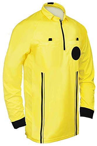 Referee Soccer Jersey Long Sleeves Yellow A XL