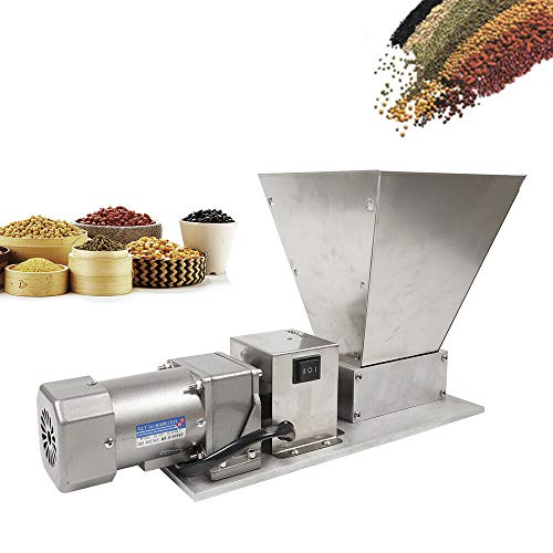 GDAE10 Electric Grain Mill Grain Grinder with 2 Roller Barley Grinder Malt Crusher Malt Mill Home Brew Mill Industrial Electric Peppe Grain Mill Soybean Grain 110V