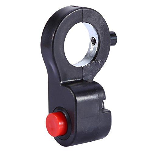 Pulsador de Bocina en Manillar de Moto, Pulsador de Claxon Manillar Universal 7/8 pulgadas