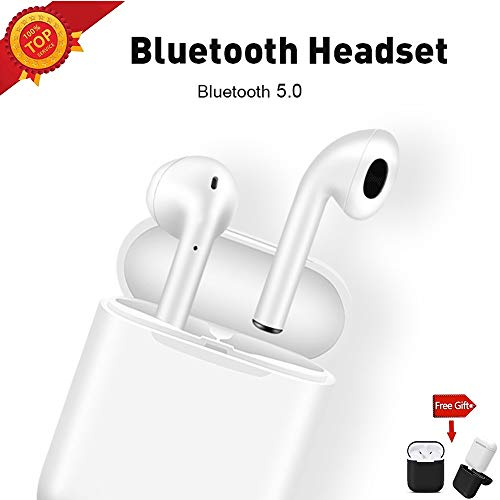 Wireless Earbuds 5.0 Bluetooth Earbud with【Airpod Case 】 IPX5 Waterproof Wireless Headphones in-Ear Bluetooth Headphones of Airpods Airpod 2 for Android/iPhone/Samsung (White-2020)