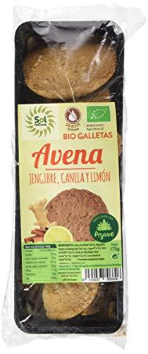SOLNATURAL Biscotti di Avena Zenzero Cannella, 175 g, Non applicabile