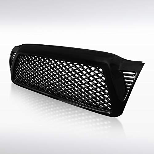 Autozensation For Toyota Tacoma Glossy Black ABS Mesh Honeycomb Front Hood Grill Grille