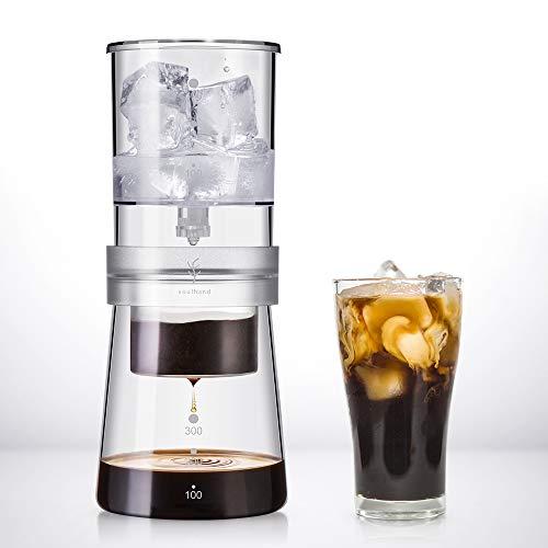 SOUL HAND soulhand Cold Brew Kaffeemaschine, Cold Brew Dripper(4 Tassen/400ML) Verstellbarer Eistropftropf Glas Duth Kalttropfkaffeemaschine für kaltgebrühten Kaffee