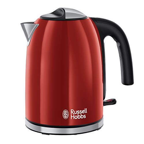 Russell Hobbs 20412 Stainless Steel Electric Kettle, 1.7 Litre, Red