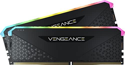 Corsair Vengeance RGB RS 64Go 2x32Go DDR4 3200MHz C16 Mémoire de Bureau Éclairage RGB Dynamique, Temps de Réponse Serrés, Compatible avec Intel 400/500 AMD 300/400/500 Series Black