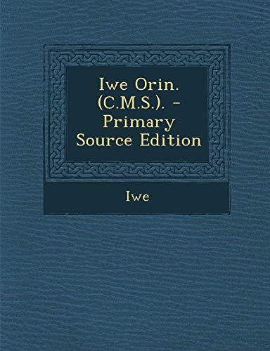 Iwe Orin. (C.M.S..