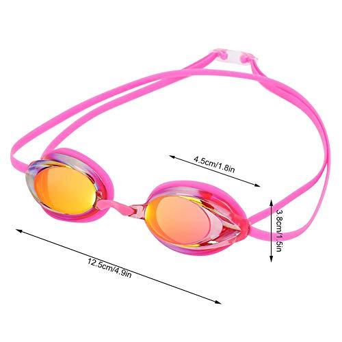 Tbest Gafas de Natación, Gafas de Natación Profesionales Impermeable a Prueba de Agua Ajustables con Antiniebla Transparente para Adultos Hombres Mujeres Jóvenes Niños Niñas