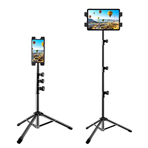 Tablet Smartphone Ständer, Verstellbare Tablet Stativ mit 360 Grad Drehung Handy Halterung, Universal für Smartphone und alle 4,7 bis 12,9 Zoll Tablets