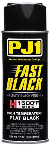 PJ1 16-HIT Flat Black Hi-Temp Spray Paint (Aerosol), 12 oz
