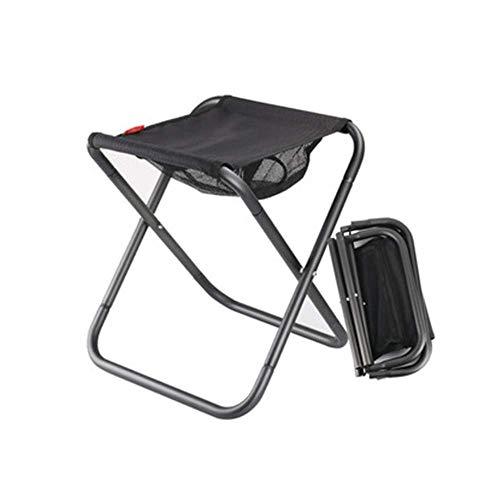 H-BEI Silla de Camping Plegable, pequeña, portátil, Resistente, XL, taburetes Plegables con...