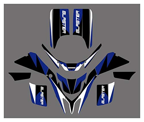 XIAOZHIWEN 5 Styles Motorcycle Team Graphic Background Sticker Decal Kit For Yamaha Blaster YFS 200 1998-2006 Universal (Color : 0028)