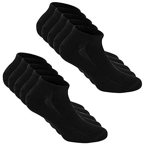 5 pares de calcetines deportivos corriendo de color sólido de corte bajo atlético transpirable tobillo calcetines acolchados deportes calcetines de algodón, Negro, Talla única