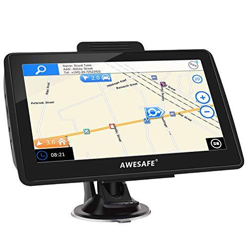AWESAFE Navigation für Auto LKW 7 Zoll Navi mit Rückfahrkamera und Bluetooth, 2020 Europa Karten, Lebenslang kostenlos Kartenupdate