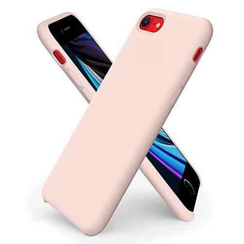 ORNARTO iPhone SE(2020) Silikon Case, iPhone 7/8 Hülle Ultra Dünne Flüssig Silikon Handyhülle Schutz für Apple iPhone 7/8/ SE(2020) 4,7 Zoll -Sandrosa