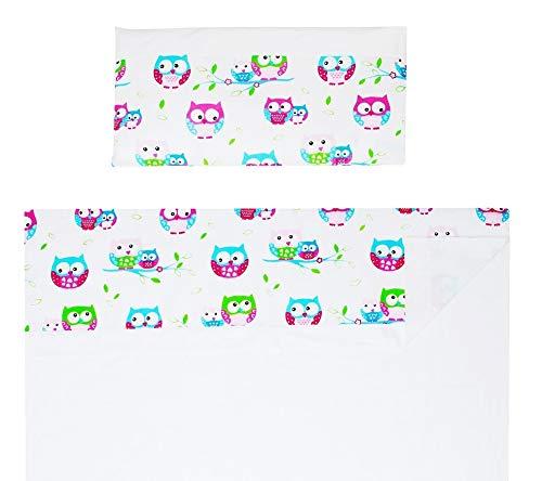 Vizaro - Spanisches BETTWÄSCHE SET 3 Tlg. ''Triptico'' Blatt-Satz für Moses/Stubenwagen/Wiege (50x80cm) - 100% REINE BAUMWOLE - Made in EU - ÖkoTex - SICHERES PRODUKT - K. Stickereien Beige Linien