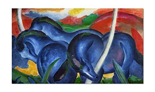 ART ALPHA 1art1 Franz Marc - Póster de Caballo Azul, 32 x 18 cm