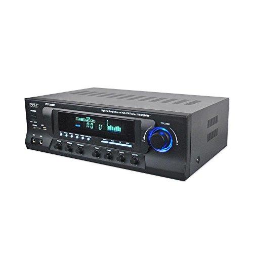 Pyle Hybrid Amplifier Receiver - Home Theater Amp Stereo, Bluetooth Streaming, MP3/USB/SD Readers, AM/FM Radio, 300 Watt (PT272AUBT) (Renewed)