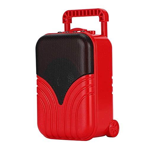 TIANYOU Drahtlose Gepäckkofferform Bluetooth-Lautsprecher-Roman-Lautsprecher-Box, Mini-Musik-Player, Für Computer schnelles Aufladung/Peking Opera Red