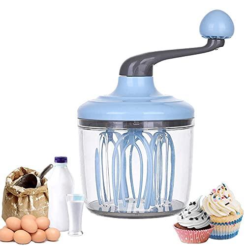 Batidor Manual para Huevo, Batidor de Crema para Tartas de 1100 ML, Multifuncional Tipo Manual Batidor de Huevos Espiral, Batidor de Crema, Prácticas Herramientas de Cocina para Cocinar